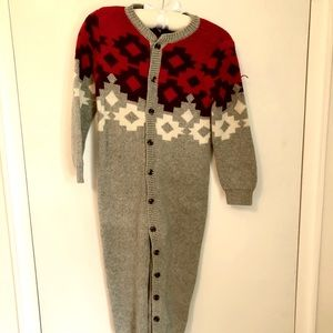 Holiday Knit Romper, Tea Collection